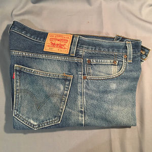 Levi 505 regulat fit zipper front jeans #5